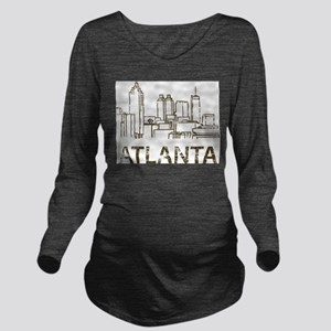 Vintage Atlanta Long Sleeve Maternity T-Shirt
