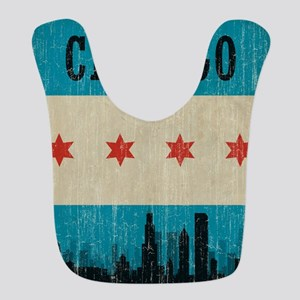 Vintage Chicago Skyline Bib