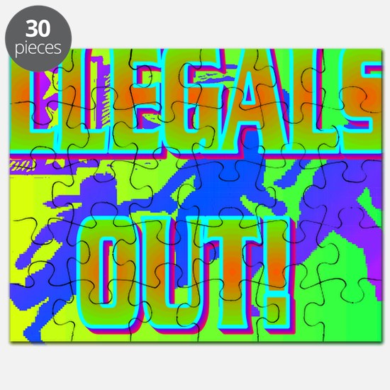 ILLEGALS OUT!(large framed print) Puzzle
