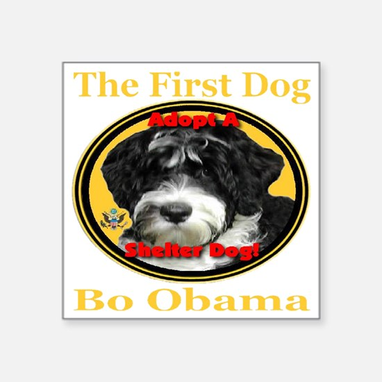 "bo_adopt_a_shelter_dog_tran Square Sticker 3"" x 3"""