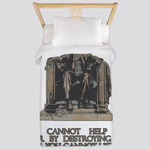 Lincoln on Rich and Poor vertical Twin Duvet
