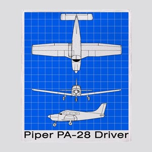 Piper PA-28 Driver Throw Blanket