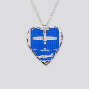 Piper PA-28 Driver Necklace Heart Charm
