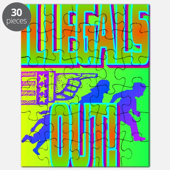 ILLEGALS OUT!(large poster) Puzzle