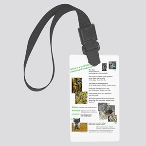 lichen poster Large Luggage Tag