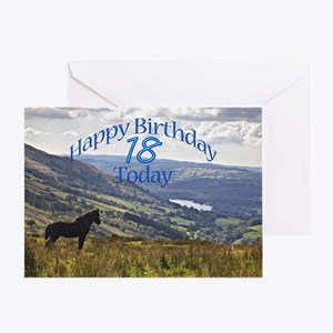 18th Birthday with a horse. Greeting Cards