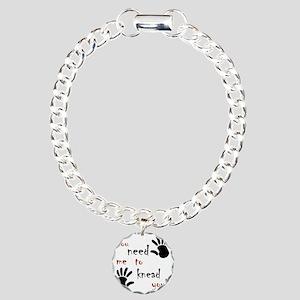 3-need to knead Charm Bracelet, One Charm