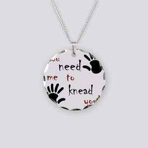 3-need to knead Necklace Circle Charm