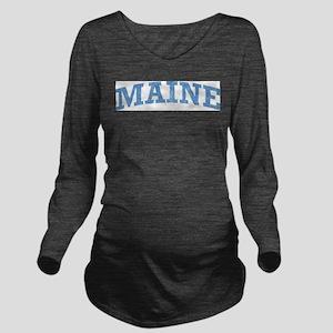 Vintage Maine Long Sleeve Maternity T-Shirt