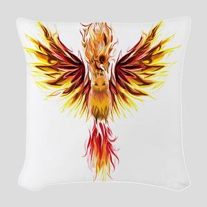 phoenixtransparent Woven Throw Pillow