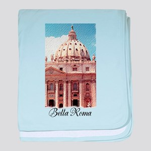 Saint Peter's Basilica in Rome Italy baby blanket