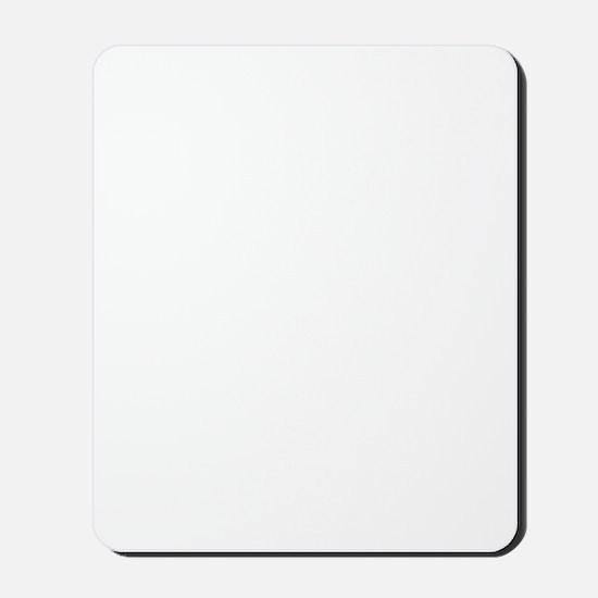 white support logo Mousepad