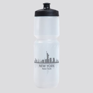 New York Skyline Sports Bottle