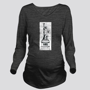 Hand Drawn Statue Of Liberty Long Sleeve Maternity