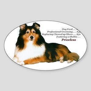 Sheltie Rescue Sticker (Oval)