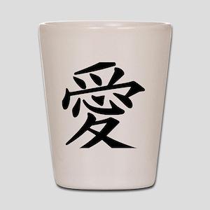 love-japanese symbol Shot Glass