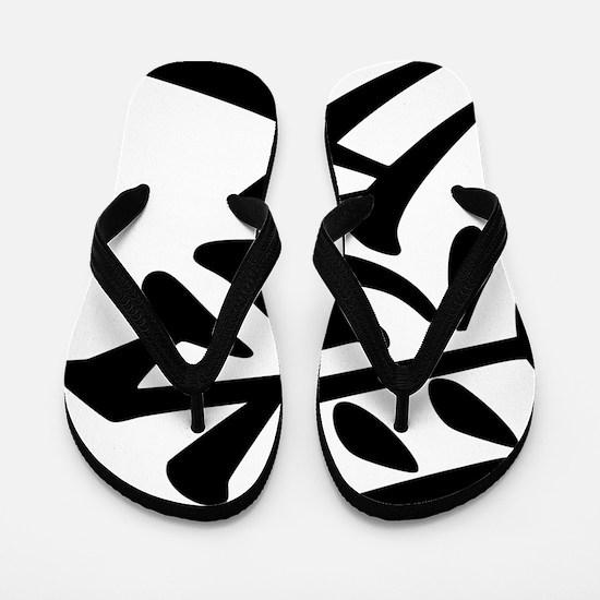 love-japanese symbol Flip Flops