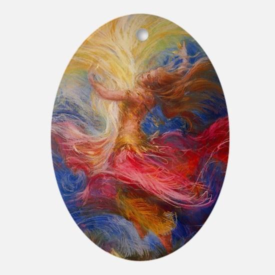 dance of light Oval Ornament