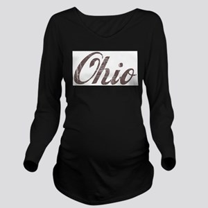 Vintage Ohio Long Sleeve Maternity T-Shirt