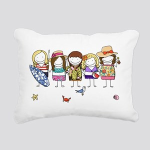 Girls Weekend Rectangular Canvas Pillow