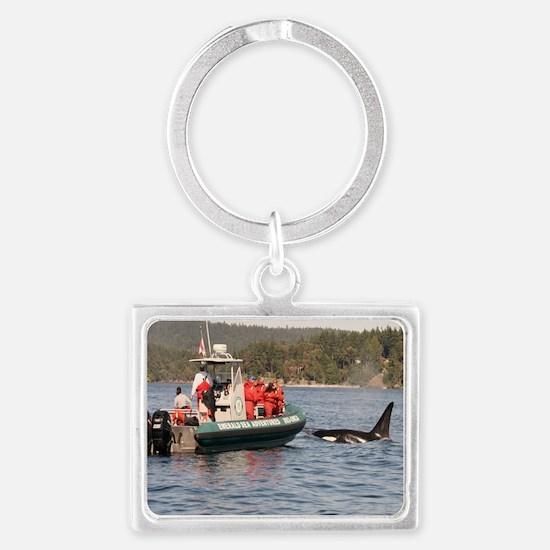 orca Landscape Keychain