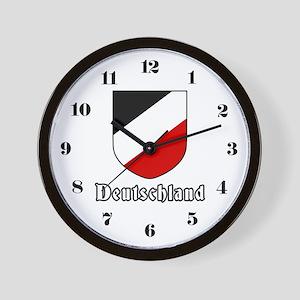 German Tricolor Shield Wall Clock