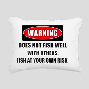 WARNING CENTERED Rectangular Canvas Pillow