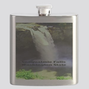 Snoqualmie Falls Washington State11.5x9 Flask