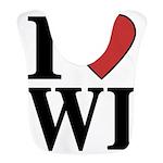 I Love Wisconsin Bib
