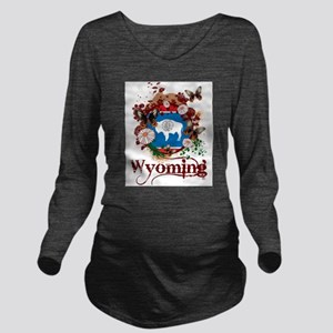 Butterfly Wyoming Long Sleeve Maternity T-Shirt