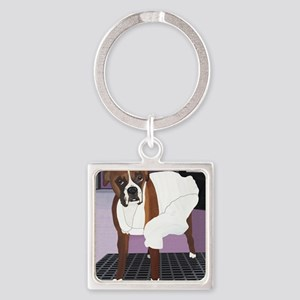 2-Seven Fleas Itch 11.5 by 9 Square Keychain
