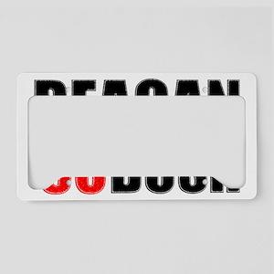 reaganblackfinal License Plate Holder