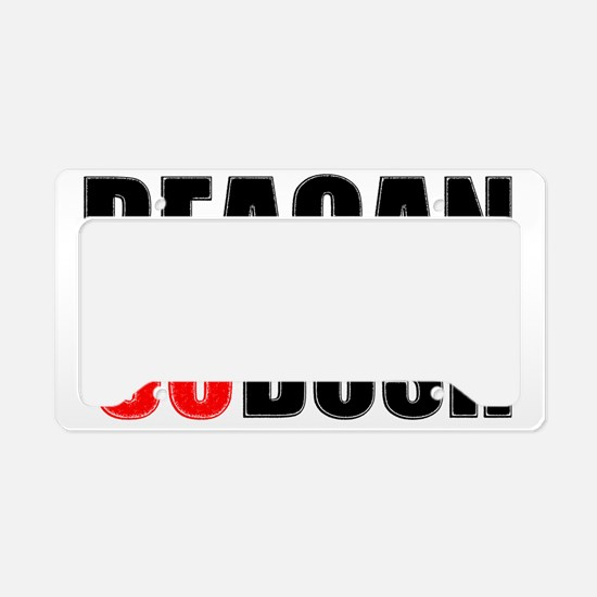 reaganblackfinal License Plate Holder
