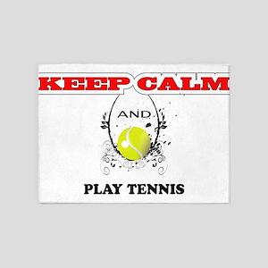 Keep Calm, tennis 5'x7'Area Rug