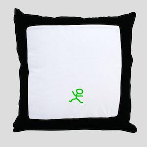Count To 8 White Throw Pillow