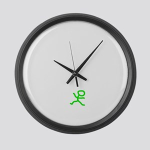 Count To 8 White Large Wall Clock