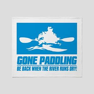 iPaddle (Gone Paddling) Throw Blanket