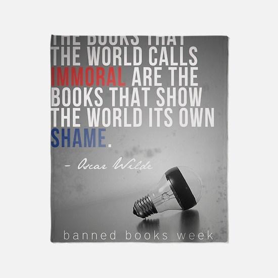 wildePAbannedbooks Throw Blanket