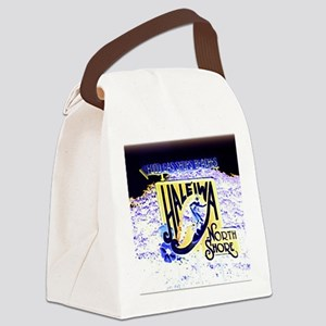 Haleiwa beach hawaii signs Canvas Lunch Bag
