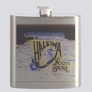 Haleiwa beach hawaii signs Flask