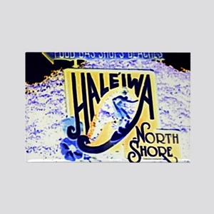 Haleiwa beach hawaii signs Rectangle Magnet