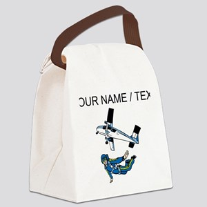 Custom Skydiver Canvas Lunch Bag