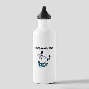 Custom Skydiver Water Bottle