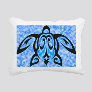 hawaiian honu turtle pri Rectangular Canvas Pillow