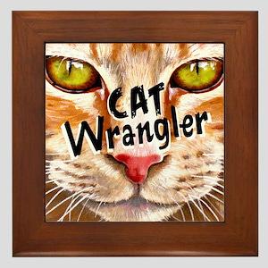Cat Wrangler 3 Framed Tile