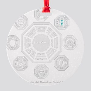 Dharma Stations Trans Round Ornament