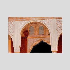 Alhambra in Granada Rectangle Magnet