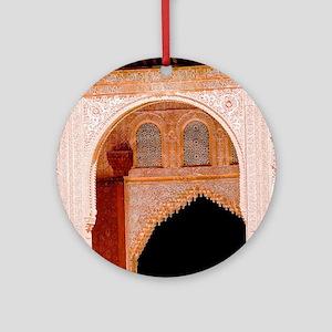Alhambra in Granada Round Ornament