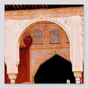 "Alhambra in Granada Square Car Magnet 3"" x 3"""