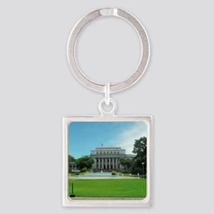 negros capitol Square Keychain